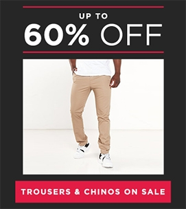 Up To 60 Off Trousers And Chinos | Sale