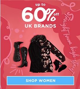 Up To 60 Off UK Brands Women