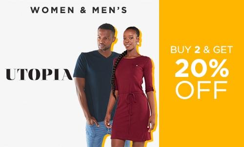Shop Deal - Buy 2 Get 20 Off Utopia Basics