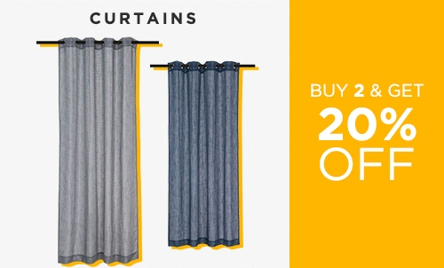 Shop Deal - Buy 2 Get 20 Off Curtains