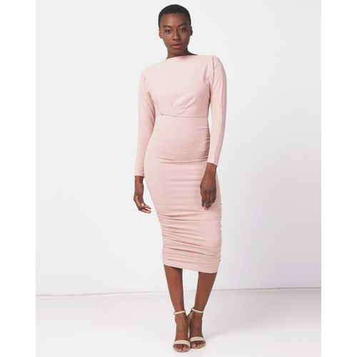 AX Paris Womens Black Off The Shoulder Bodycon Dress