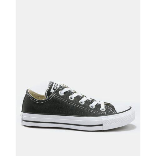 Star Ladies Leather Lo Sneakers Black