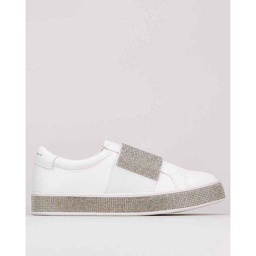 Shimmer Sneakers With Bling Strap And