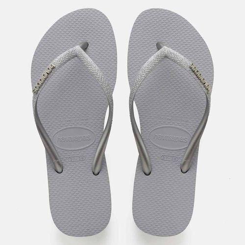 havaianas grey flip flops