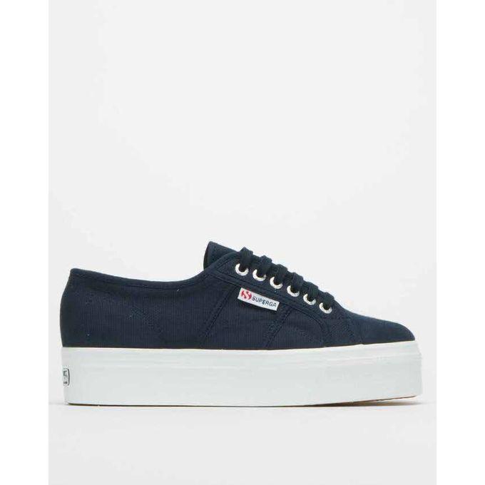 Canvas Full Platform Sneakers Navy