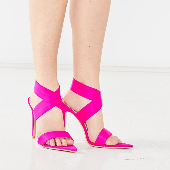 Plum Clydie Pointy Heel Sandal Pink