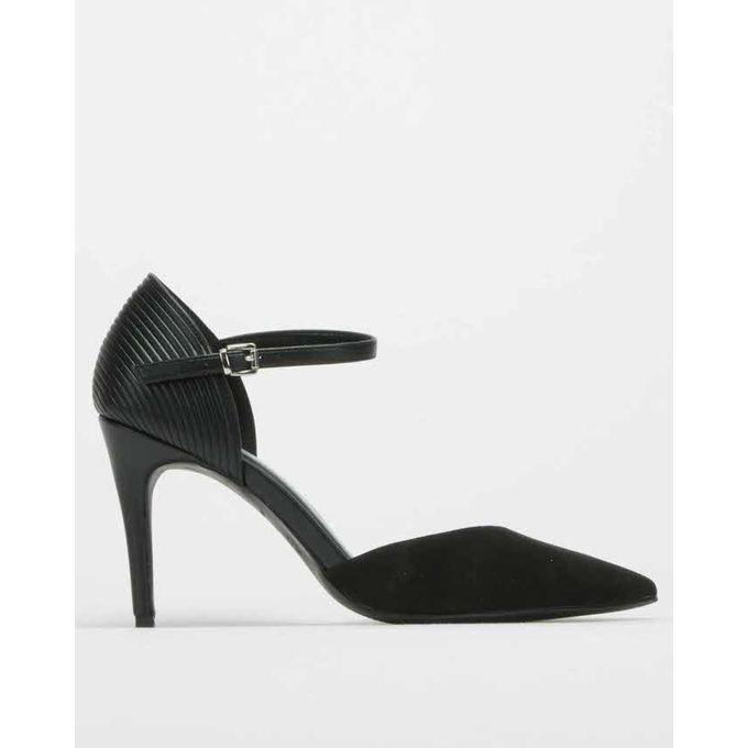Suedette 2 Part Stiletto Court Shoes